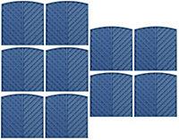 Grange St Lunair Diagonal slat Fence panel (W)1.8m (H)1.8m, Pack of 10
