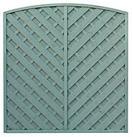 Grange St Lunair Diagonal slat Fence panel 1.8m 1.8m, Pack of 3