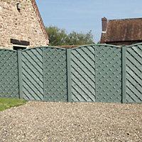 Grange St Lunair Diagonal slat Fence panel 1.8m 1.8m, Pack of 4