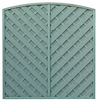 Grange St Lunair Diagonal slat Fence panel 1.8m 1.8m, Pack of 5