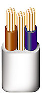 Prysmian 6242YH 3 core 1mm² Twin & earth cable, 5m