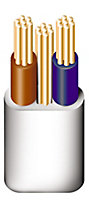 Prysmian 6242YH 3 core 1mm² Twin & earth cable, 10m
