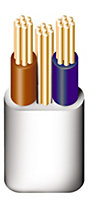 Prysmian 6242YH 3 core 2.5mm² Twin & earth cable, 5m