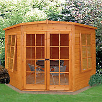 Shire Hampton 10x10 Pent Shiplap Wooden Summer house