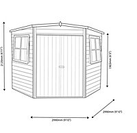 Shire Murrow 10x10 Pent Shiplap Wooden Shed