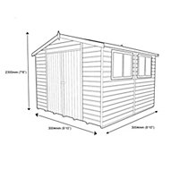 Shire Atlas 10x10 Apex Shiplap Wooden Shed - Assembly service included