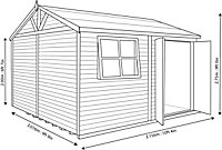 Shire Mammoth 10x10 Apex Wooden Workshop - Assembly service included