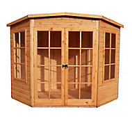 Shire Hampton 7x7 Pent Shiplap Wooden Summer house