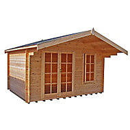 Shire Cannock 10x10 Apex Tongue & groove Wooden Cabin - Assembly service included