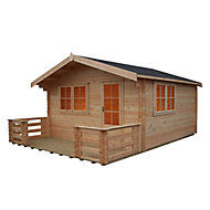 Shire Kinver 14x14 Apex Tongue & groove Wooden Cabin
