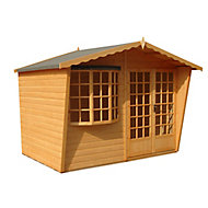 Shire Sandringham 10x6 Apex Shiplap Wooden Summer house - Assembly service included