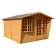 Shire Sandringham 10x10 Apex Shiplap Wooden Summer house