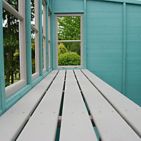 Shire Sun 8x6 Pent Shiplap Wooden Summer house - Assembly service included