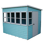 Shire Sun 8x8 Pent Shiplap Wooden Summer house - Assembly service included