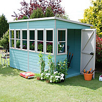 Shire Sun 10x6 Pent Shiplap Wooden Summer house - Assembly service included