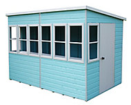 Shire Sun 10x10 Pent Shiplap Wooden Summer house