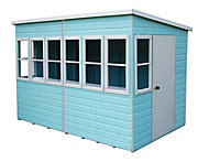 Shire Sun 10x10 Pent Shiplap Wooden Summer house - Assembly service included