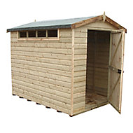 Shire Security Cabin 10x8 Apex Shiplap Wooden Shed - Assembly service included