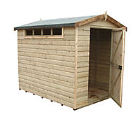 Shire Security Cabin 10x10 Apex Shiplap Wooden Shed - Assembly service included