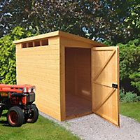 Shire Security Cabin 8x6 Pent Shiplap Wooden Shed