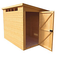 Shire Security Cabin 10x8 Pent Shiplap Wooden Shed - Assembly service included