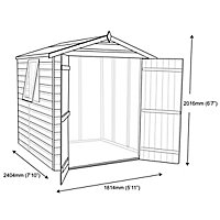 Shire Warwick 8x6 Apex Shiplap Wooden Shed - Assembly service included