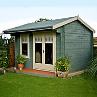 Shire Marlborough 10x12 Apex Tongue & groove Wooden Cabin