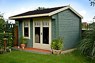 Shire Marlborough 12x12 Apex Tongue & groove Wooden Cabin