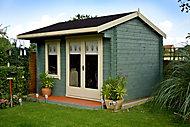 Shire Marlborough 12x14 Apex Tongue & groove Wooden Cabin