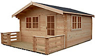 Shire Kinver 12x14 Apex Tongue & groove Wooden Cabin - Assembly service included