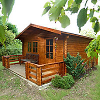 Shire Kinver 14x18 Apex Tongue & groove Wooden Cabin - Assembly service included