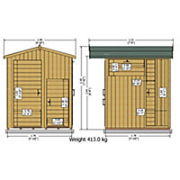 Shire Tounge & groove Wooden 6x6 Apex Garden storage - Assembly service included