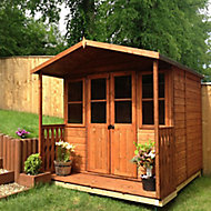 Shire Houghton 7x5 Apex Shiplap Wooden Summer house - Assembly service included