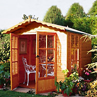 Shire Buckingham 7x7 Apex Shiplap Wooden Summer house - Assembly service included