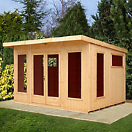 Shire Miami gym 12x10 Pent Shiplap Wooden Summer house - Assembly service included