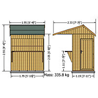 6x4 Timber Bar Shiplap Wooden Bar & garden store