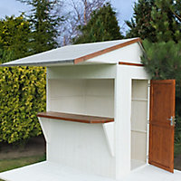 Shire Timber Bar Shiplap Wooden 6x4 Apex Garden storage - Assembly service included