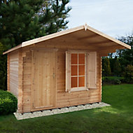 Shire Hopton 10x12 Apex Tongue & groove Wooden Cabin - Assembly service included