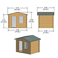 Shire Bucknells 10x8 Apex Tongue & groove Wooden Cabin