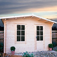Shire Bucknells 10x10 Apex Tongue & groove Wooden Cabin - Assembly service included