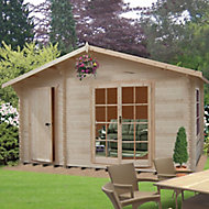 Shire Bourne 14x12 Apex Tongue & groove Wooden Cabin - Assembly service included