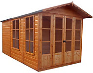 Shire Kensington 10x7 Apex Shiplap Wooden Summer house - Assembly service included