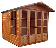 Shire Kensington 7x7 Apex Shiplap Wooden Summer house (Base included) - Assembly service included