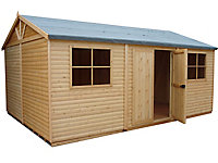Shire Mammoth 15x10 Apex Wooden Workshop - Assembly service included