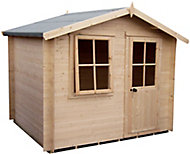 Shire Hartley 10x10 Apex Tongue & groove Wooden Cabin (Base included) - Assembly service included