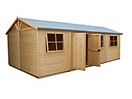 Shire Mammoth 24x12 Apex Wooden Workshop