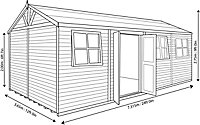 Shire Mammoth 24x12 Apex Wooden Workshop - Assembly service included