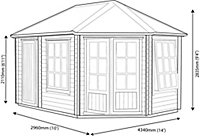 Shire Leygrove 14x10 Apex Tongue & groove Wooden Cabin