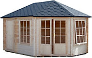 Shire Leygrove 14x10 Apex Tongue & groove Wooden Cabin - Assembly service included