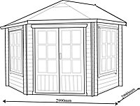Shire Belvoir 10x10 Apex Tongue & groove Wooden Cabin - Assembly service included